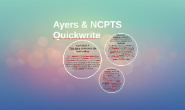 Ayers & NCPTS Quickwrite
