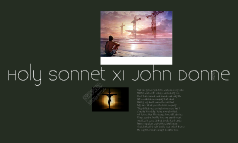 Holy Sonnet XI John Donne