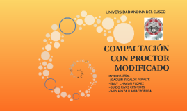 COMPACTACIÓN CON PROCTOR MODIFICADO