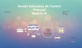 Sesión Educativa de Control Prenatal