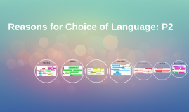 Reasons for Choice of Langauge