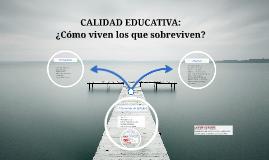 CALIDAD EDUCATIVA: