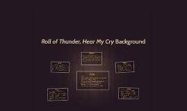 Roll of Thunder, Hear My Cry Background