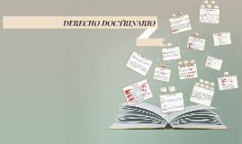 DERECHO DOCTRINARIO