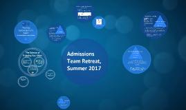 Admissions Team Retreat 17