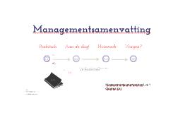 BS Managementsamenvatting Les 1