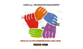 GHZN 3033 - RECREATION MANAGEMENT