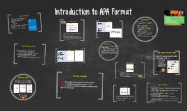 Copy of Introduction to APA Format
