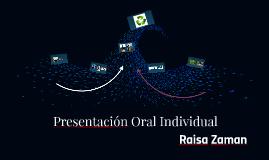 Presentación Oral Individual
