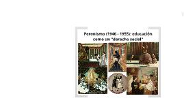Sociopolítica / Peronismo: educación como derecho social