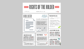 RIGHTS OF THE HOLDER