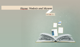Hayaa: Modesty and Shyness
