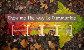 Show me the way to Summarize
