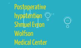 Postoperative Hypotention
