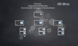 Estructura Departamento Enfermeria, Instrumentacion e Intervencionismo PRESENTACION 1