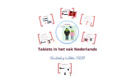 Tablets in het vak Nederlands