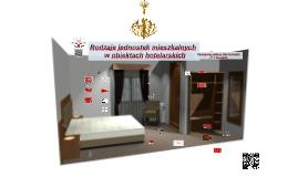 Rodzaje jednostek mieszkalnych  w obiektach hotelarskich
