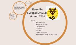 Reunion Campamento sep 2015