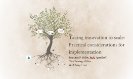 Taking innovation to scale: Practical considerations for imp