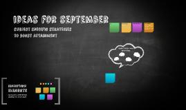 ideas for september