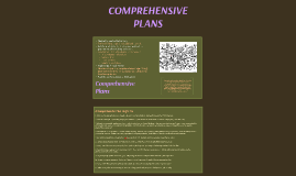 Copy of Comprehensive Plans