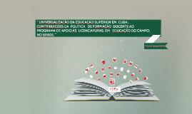 Cuba: Formação de Educadores