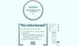 AR Presentation: Cross-Cultural Awareness