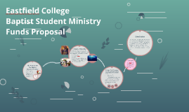 Eastfield Baptist Student Ministry Funds Proposal
