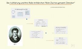 """Die Aufklärung und ihre Rolle im Märchen """"Klein Zaches genan"""