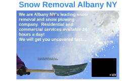 Snow Removal Albany NY