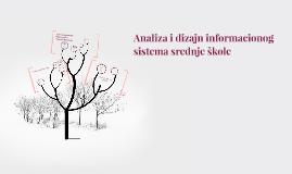 Analiza i dizajn informacionog sistema srednje škole