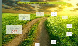 Historical Events From 8000B.C. to 600A.D.