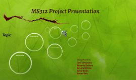 MS312 Project Presentation