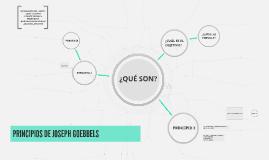 PRINCIPIOS DE JOSEPH GOEBBELS