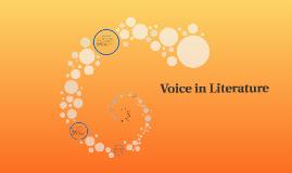 Voice in Literature