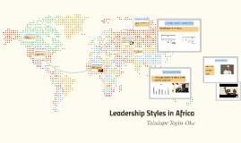 Leadership Styles in Africa