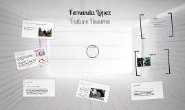Fernanda López Failure Resume