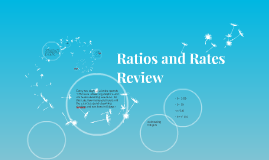 Ratios and Rates Review