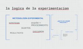 la logica de la experimentacion