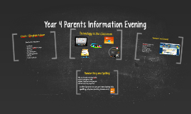 Year 4 Parents Information Evening