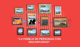 """""""LA FAMILIA DE PERSONAS CON DISCAPACIDAD"""