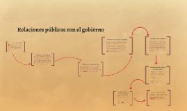 Relaciones públicas con el gobierno