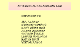 Soc Sci 5: Group Report on the Anti-Sexual Harassment Law