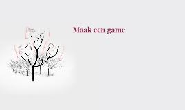 Maak een game