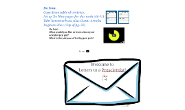 Letters to a Prescientist!