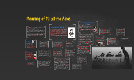 Copy of Meaning of Mi ultimo Adios