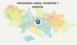 Pensamiento lógico, heuristico y creativo.