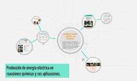 Producción de energía eléctrica en reacciones químicas y sus