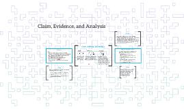 Claim, Evidence, and Analysis