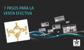 Copy of 7 PASOS PARA LA VENTA EFECTIVA